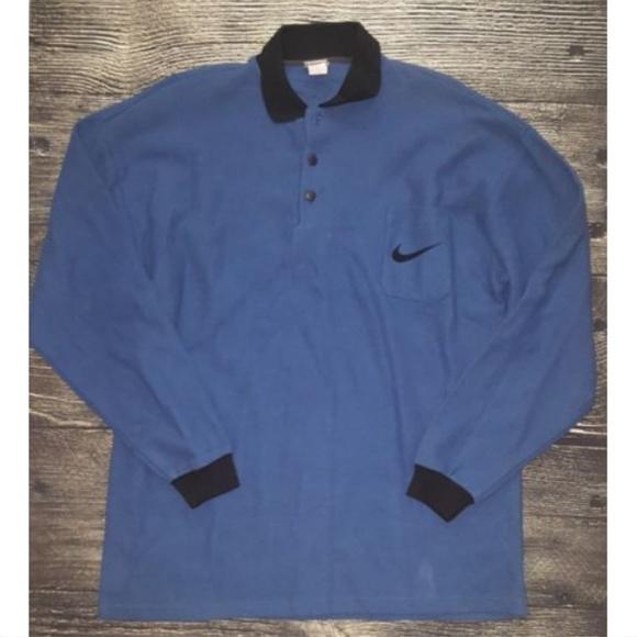 69ad4e336b04e Vintage NIKE Men's Size XL Long Sleeve Polo